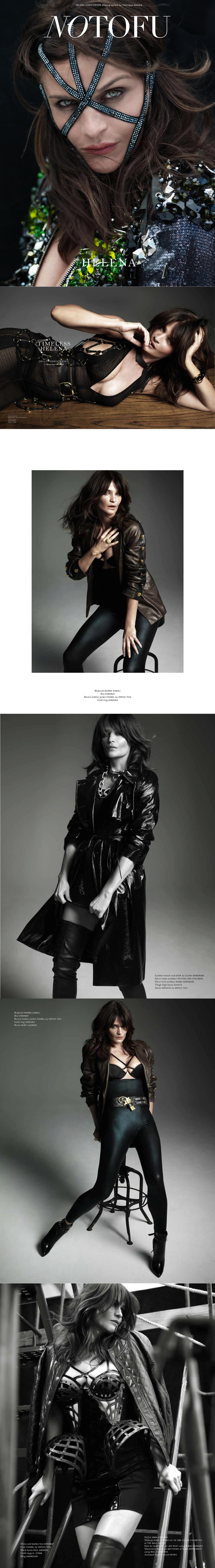 Helena Christensen wears  Depuis 1924 vintage Chanel
