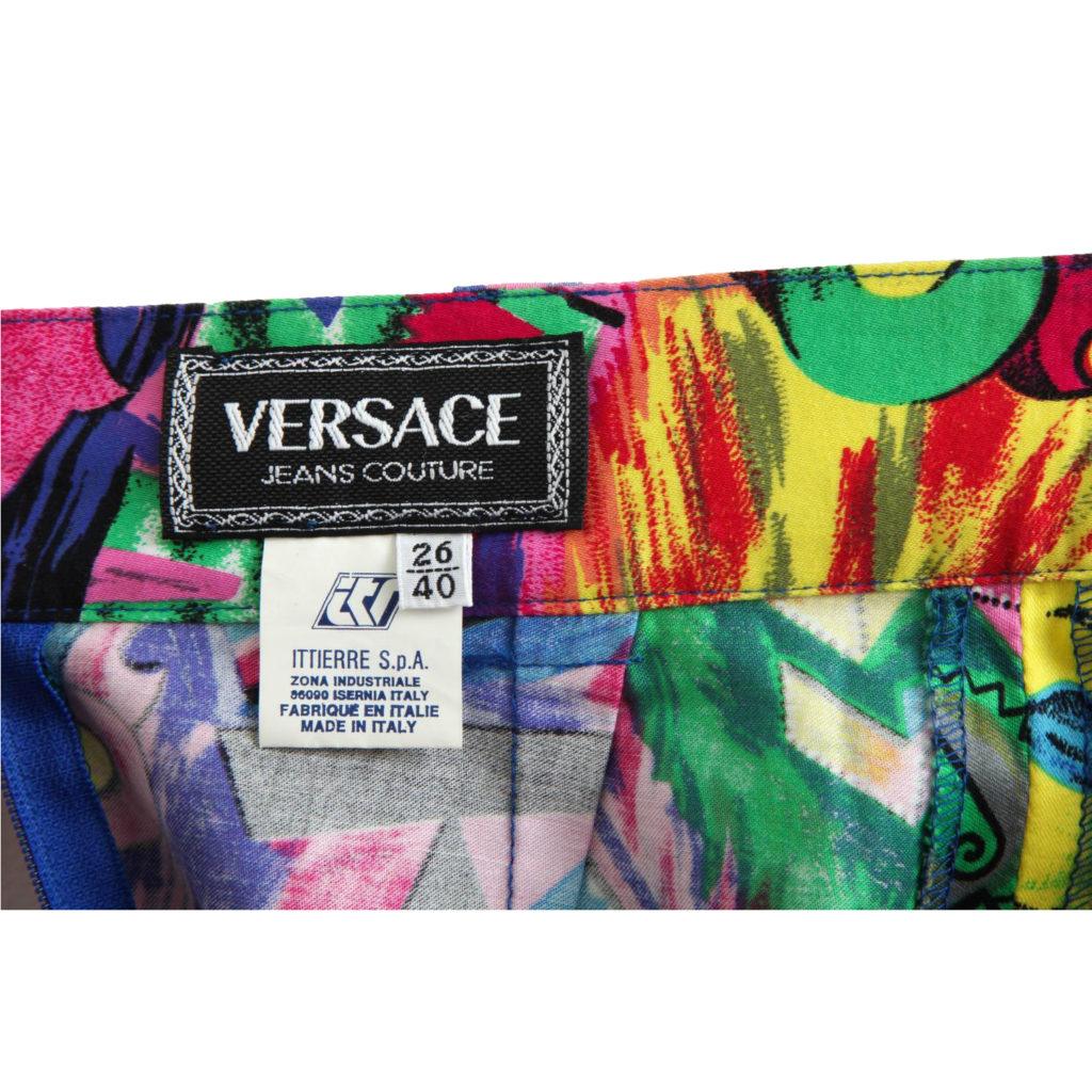 14066f999c89 RARE VINTAGE GIANNI VERSACE JEANS COUTURE MONROE AND BETTY PRINT SKIRT