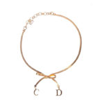 CHRISTIAN DIOR BOW CHOKER NECKLACE
