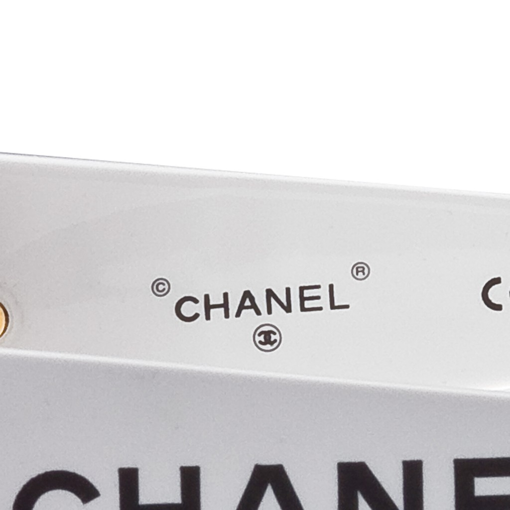 2a3ad92efb VINTAGE CHANEL BLACK AND WHITE LOGO SUNGLASSES