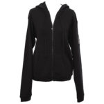 CHANEL BLACK KNIT HOODIE WITH CC