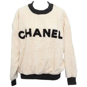 VINTAGE CHANEL SWEAT SHIRT SWEATER WITH ICONIC LOGO