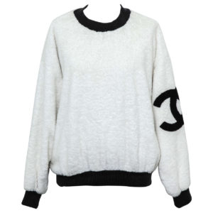 VINTAGE CHANEL SWEATSHIRT SWEATER WITH ICONIC CC
