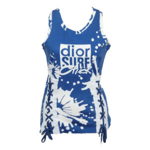 CHRISTIAN DIOR BLUE/WHITE LOGO TANK TOP T-SHIRT