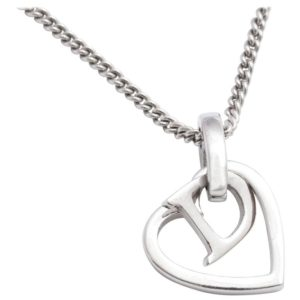 CHRISTIAN DIOR HEART AND LOGO NECKLACE BY JOHN GALLIANO