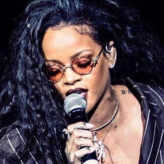 Rihanna wearing Depuis 1924 JPG sunglasses at Desert Trip Festival