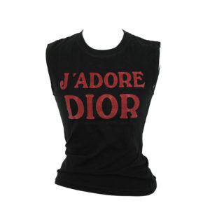 "CHRISTIAN DIOR BY JOHN GALLIANO ""J'ADORE DIOR"" TANK TOP T-SHIRT"