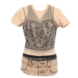 CHRISTIAN DIOR BY JOHN GALLIANO TROMPE L'OEIL T-SHIRT