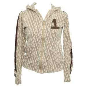 CHRISTIAN DIOR BY JOHN GALLIANO LIGHT BROWN TROTTER LOGO SWEATSHIRT