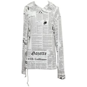 JOHN GALLIANO NEWSPAPER HOODIE