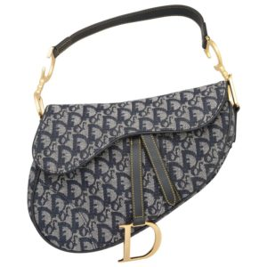 CHRISTIAN DIOR BY JOHN GALLIANO LOGO SADDLE BAG