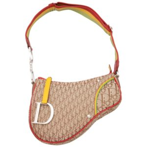 JOHN GALLIANO FOR CHRISTIAN DIOR RASTA COLLECTION SADDLE POUCHETTE BAG