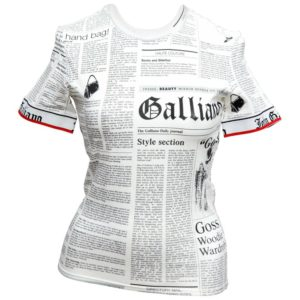RARE JOHN GALLIANO FOR CHRISTIAN DIOR NEWSPAPER T-SHIRT