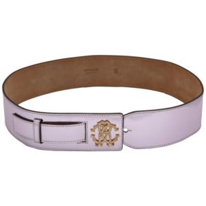 BEAUTIFUL ROBERTO CAVALLI METALIC PINK LEATHER BELT