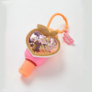 PEACH HAND SANITIZER HOLDER