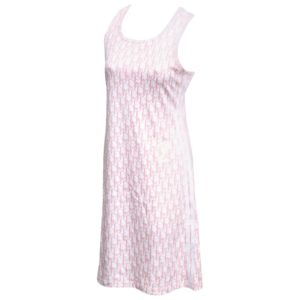 JOHN GALLIANO FOR CHRISTIAN DIOR TROTTER LOGO PINK DRESS